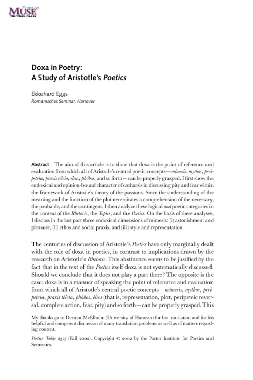 catharsis in aristotles poetics essay Aristotle's poetics in 5 minutes msgoknights loading 3 act structure pity fear catharsis - duration: 7:23 dab hub 7,379 views 7:23.
