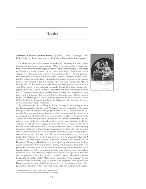 an analysis of a streetcar named desire a play by tennessee williams This short study guide tells you all you need to know about tennessee williams's a streetcar named desire connell guides are advanced guide books that offer sophisticated analysis and broad critical perspectives for higher-level gcse and a level english literature students.