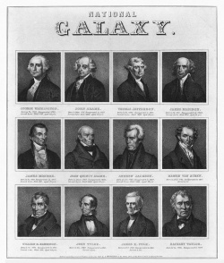"Figure 7. ""National Galaxy"" (presidents of the United States). Source: J. Greenleaf (Boston, 1849)."