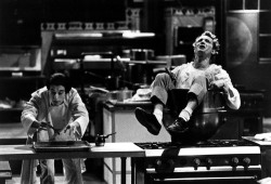 Figure 1. Raymondo (Alejandro Aguilera) and Kevin (Stephen Cartmell) in Théâtre de la Jeune Lune of Minneapolis's production of Arnold Wesker's The Kitchen, directed by Dominique Serrand. Photo: Michal Daniel.