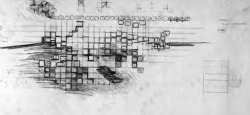 4. Monument to the Partisan Woman, plan. Drawing by Carlos Scarpa. Courtesy Carlo Scarpa Archive Drawing / Centro Carlo Scarpa, Treviso.