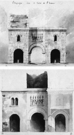 3. Watercolor sketches of the Porta Ticinese, 1858.