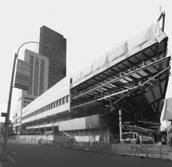 2. Juilliard School / Alice Tully Hall, montage of south elevation during construction, 2008. Photograph by Jorge Otero-Pailos.