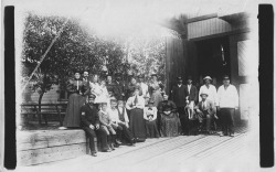 Figure 6. St. Joseph's U.S. Life Saving Service crew with family members in front of the Chandler-Style Station, circa 1890s. Courtesy of the Berrien County Historical Association.