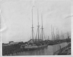 Figure 7. Sail and steam power moved commodities and passengers along the Benton Harbor Canal during the final decades of the nineteenth century. Courtesy of the Heritage Museum and Cultural Center.