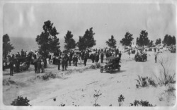 "Figure 15. Dedication of Jean Klock Park on Lake Michigan in Benton Harbor, Michigan, June 14, 1917. Designed by Jens Jensen, the park's dedication ceremony took place only a month and a half after ""The Great Dunes Pageant"" at Indiana Dunes. Courtesy of the Heritage Museum and Cultural Center."