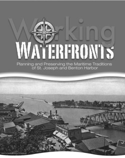 "Figure 17. Lead panel for the ""Working Waterfronts"" exhibit at the Heritage Museum and Cultural Center. Courtesy of the Heritage Museum and Cultural Center."
