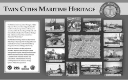 Figure 18. The anchor marker for the Twin Cities Maritime Heritage Trail. Courtesy of the Heritage Museum and Cultural Center.