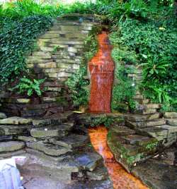 Figure 5. Red Waterfall at Chalice Well Gardens.