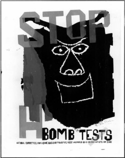 Figure 1. Ben Shahn, Stop H-Bomb Tests, silkscreen, poster, n.d., 45 x 35 in. (sheet). Yale University Art Gallery, New Haven, CT. Photograph by Carl Kaufman. © Estate of Ben Shahn/Licensed by VAGA, New York, NY.