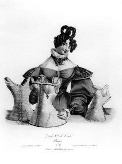 "Figure 4. ""L'Utile Mode de Corsets (Paris),"" ca. 1830, in Libron and Clouzot."