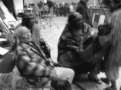 Figure 3. Mizuki Shigeru on the set of the film Yōkai daisensō, 2005. Photograph by author.