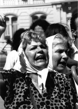 Photo 1. Portillo captures the angst and passion of the struggle endured by Argentine mothers in her film .
