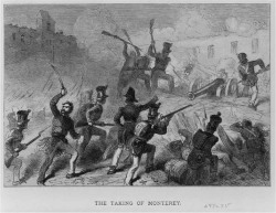 "Figure 1. ""The Taking of Monterey."" The savage fighting in and around Monterey claimed the lives of dozens of Americans, including German Catholic Lieutenant Matthew Hett. Courtesy of the Library of Congress."
