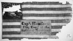 "Figure 2. ""National Colors of the 1st Regt. Ohio Volunteers."" This flag was carried by one of the companies serving alongside the (Irish) Montgomery Guards at Monterey and Cerralvo. Courtesy of the Ohio Historical Society."
