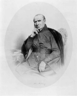 "Figure 4. ""Father John McElroy, S.J."" McElroy and his fellow Jesuit Anthony Rey ministered to thousands of Catholics in Gen. Zachary Taylor's army in northern Mexico, providing comfort, consolation, and the sacraments. He became embroiled in controversy after confusion erupted over whether he had converted the dying son of a Presbyterian minister. McElroy lived to return home, but Rey died at the hands of guerrillas. Courtesy of the Library of Congress."
