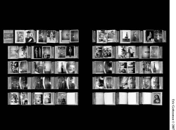 "Figure 2. Every page of Amsale Shiferaw's Photo Album (2007) by Eric Gottesman. Inkjet print (h: 80"" x 42"")."