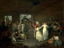 Figure 2. A Portsmouth tavern, England, in the 1790s. Source: Sailors Carousing, by Julius Caesar Ibbetson, 1802, courtesy National Maritime Museum, London.