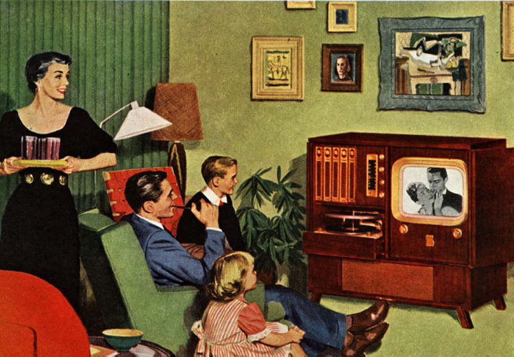 A TV Set Became a Common Feature of American Living Rooms in the 1950s1