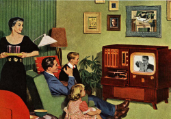 Fig. 1. A TV Set Became a Common Feature of American Living Rooms in the 1950s