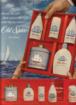 Fig. 12. This 1960 Ad Features Several Old Spice Products