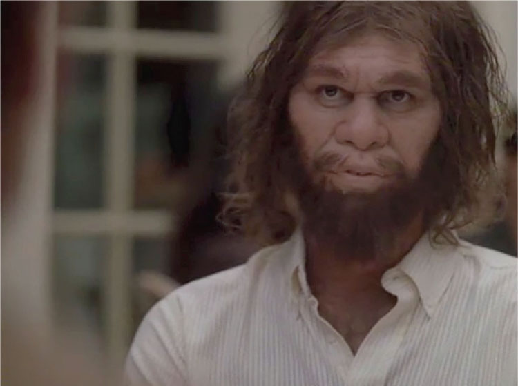 The Caveman Saga Continues in this Commercial (2004)