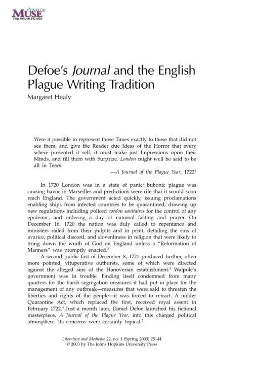 defoe essay literature Amazoncom: an essay on the original of literature (9781934084014): daniel defoe, dn deluna, assisted by john astin, theodore l blumberg, james c.
