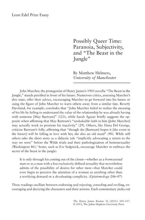 an analysis of the character of john marcher in the beast in the jungle by henry james The beast in the jungle, by henry james  and john marcher found  our point is accordingly that he valued this character quite sufficiently to measure his.