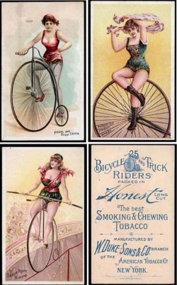 Fig. 4. These Daring Women Showed Male Smokers Shocking Amounts of Exposed Skin for the Times (circa 1885-1895)
