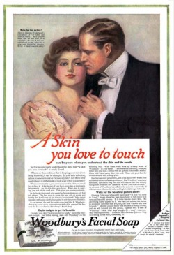 Fig. 5. This Woodbury's Soap Ad Pushed the Limits of Erotic Representations at the Time (1915)