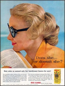 "Fig. 10. The Famous Tag Line, ""Does She or Doesn't She?,"" Is about Hair Coloring but Contains Sexual Innuendo as Well (1957)"