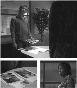 Figures 7-9. (Clockwise) Detective McNulty meets with Brianna Barksdale to discuss the murder of her son D'Angelo (3.8).
