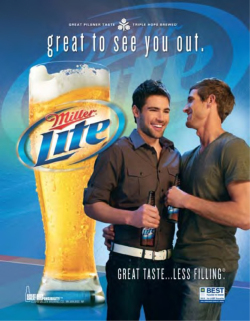 Fig. 1. Miller Lite Shows Its Gay Persona in This Ad (2010)