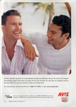 Fig. 11. This Avis Ad Talks About Rates for Domestic Partners (2003)