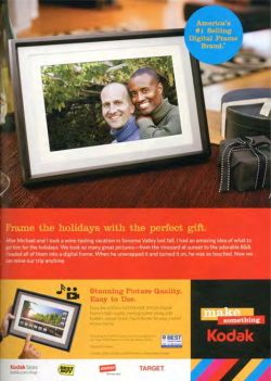 Fig. 12. The Closeness of the Two Men in This Kodak Ad Indicates Partnership (2008)