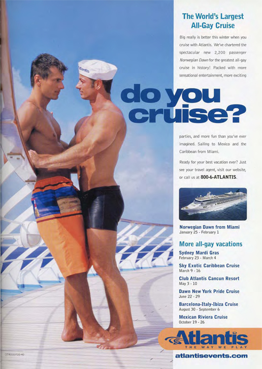 Fig. 27. This Ad Plays on the Double Meaning of Cruise (2003)