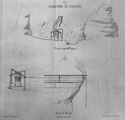 Figure 1. Early drawing of the mining malacate, or windlass. (Source . Reproduced with permission from the Rare Books Room of the Benson Latin American Collection at the University of Texas at Austin).