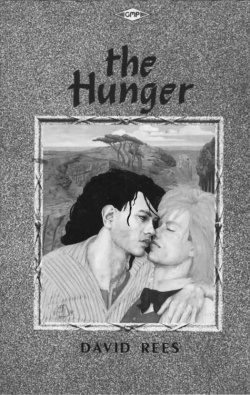 Figure 1. Cover of The Hunger by David Rees, published by Gay Men's Press (London 1986), cover art by Peter Dawson.