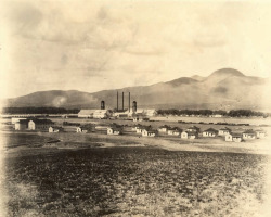 Figure 1. Pearson as it appeared shortly after construction of the mill and railroad one hundred years ago. (Reproduced with permission of the Border Heritage Center, El Paso Public Library, Otis A. Aultman Photo Collection)