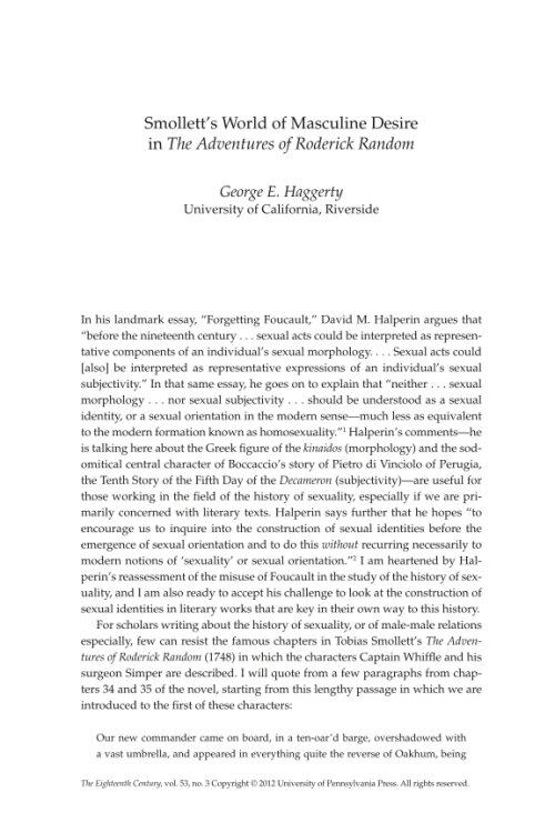 Essay on homosocial order