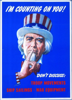 Fig. 15. Uncle Sam Urges Silence during World War II