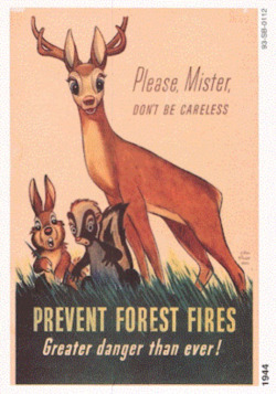 Fig. 17. Walt Disney's Bambi Predated Smokey in the Campaign to Prevent Forest Fires (1944)
