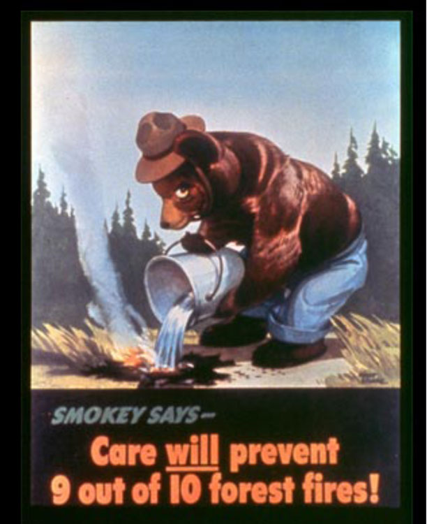 The First Smokey Bear Ad from 194422