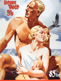 "Fig. 22. This Nazi Poster Glorifies the ""Aryan Race"""
