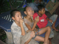 Fig. 28. This Image Shows Young Boys Smoking, A Rather Common Sight in Thailand