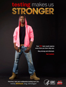 Fig. 30. This Poster Encourages Black Gay and Bisexual Men to Take a Stand against HIV