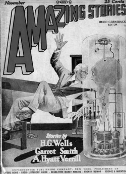 "Figure 1. Francis Flagg's ""germ-free"" machine man of the future. Source: Amazing Stories, November 1927."