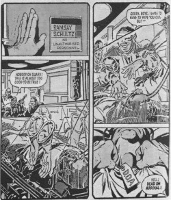 "Figure 9. The Trexler isolator has frequently featured in the imagined medical future of Judge Dredd, a fictional lawman combining the roles of judge, jury, and executioner to keep order in the violent and overpopulated twenty-second-century ""Mega City One"" (1977 to date). Dredd is among the best known of British comic characters whose chief writers in the 1980s, Wagner and Grant, drew inspiration for their work by extrapolating from contemporary scientific and medical journals. Source: John Wagner and Alan Grant, ""Otto Sump's Ugly Clinic,"" 2000 AD 187 (1980): 7."
