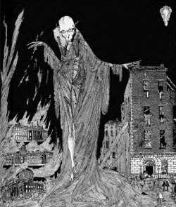 Figure 1. Harry Clarke, The Last Hour of the Night (1922), frontispiece to Patrick Abercrombie's Dublin of the Future (Civics Institute of Ireland), London: Hodder and Stoughton, 1922