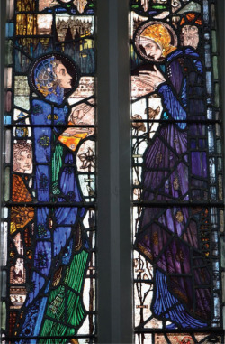 Plate 1. Harry Clarke, The Visitation (1924), central panels, Saints Peter and Paul Church, Balbriggan, Co. Dublin (photograph by Kelly Sullivan)